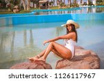 summer time. beautiful young... | Shutterstock . vector #1126117967
