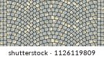 cobblestone arched pavement... | Shutterstock . vector #1126119809