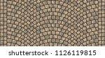cobblestone arched pavement... | Shutterstock . vector #1126119815