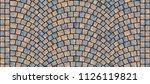 cobblestone arched pavement... | Shutterstock . vector #1126119821