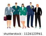 office working people icons set ... | Shutterstock .eps vector #1126123961