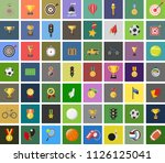 vector sports icons set   play... | Shutterstock .eps vector #1126125041