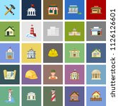 building icons set   vector... | Shutterstock .eps vector #1126126601