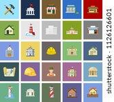 building icons set   vector... | Shutterstock .eps vector #1126126601