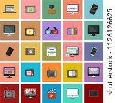 computer monitor  smartphone ...   Shutterstock .eps vector #1126126625