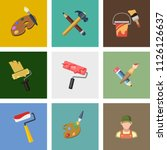 vector art icons. graphic... | Shutterstock .eps vector #1126126637