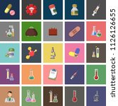 set vector icons  sign and... | Shutterstock .eps vector #1126126655