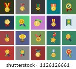 win medal icon   golden winner... | Shutterstock .eps vector #1126126661