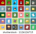 file and folder illustrations   ... | Shutterstock .eps vector #1126126715