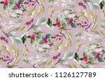 seamless watercolor christmas... | Shutterstock . vector #1126127789