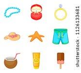 sweetheart icons set. cartoon... | Shutterstock . vector #1126133681