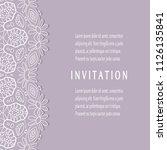 invitation or card templates...   Shutterstock .eps vector #1126135841