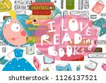 read and study design with... | Shutterstock .eps vector #1126137521