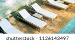 blank white loungers mockup... | Shutterstock . vector #1126143497