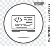coding icon vector  coding in... | Shutterstock .eps vector #1126146911