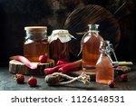 homemade fermented strawberry... | Shutterstock . vector #1126148531