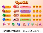 slots icon and buttons set.... | Shutterstock .eps vector #1126152371