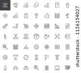 work productivity outline icons ... | Shutterstock .eps vector #1126154027
