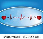 heartbeat   heart beat pulse... | Shutterstock . vector #1126155131