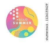 unique artistic design card  ... | Shutterstock .eps vector #1126155629