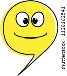 an emoticon for a happy mood... | Shutterstock .eps vector #1126162541