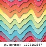 multi layers color texture 3d... | Shutterstock .eps vector #1126163957