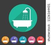 bath shower icon flat web sign... | Shutterstock .eps vector #1126164431