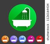 bath shower icon flat web sign... | Shutterstock .eps vector #1126164434