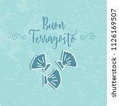 buon ferragosto italian summer... | Shutterstock .eps vector #1126169507