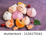 multicolored meringue with... | Shutterstock . vector #1126173161