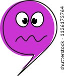 an emoticon for a troubled... | Shutterstock .eps vector #1126173764