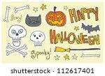 happy halloween  spooky  scary  ...   Shutterstock . vector #112617401