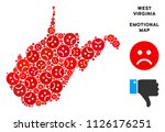 emotional west virginia state... | Shutterstock .eps vector #1126176251