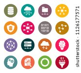 data science icons | Shutterstock .eps vector #1126177571