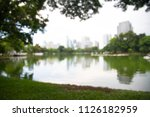 blur abstract park with city  | Shutterstock . vector #1126182959