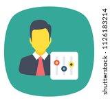 conceptual flat icon design of... | Shutterstock .eps vector #1126183214
