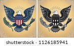 american eagle with usa flags | Shutterstock . vector #1126185941