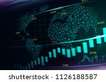 stock market or crypto currency ... | Shutterstock . vector #1126188587