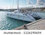 italy  sicily  mediterranean... | Shutterstock . vector #1126190654
