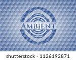 ambient blue emblem or badge... | Shutterstock .eps vector #1126192871