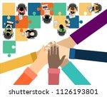 flat design illustration... | Shutterstock .eps vector #1126193801