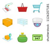 admission icons set. cartoon... | Shutterstock . vector #1126207181