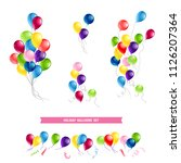 happy birthday card set | Shutterstock .eps vector #1126207364