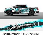 truck decal  cargo van and car... | Shutterstock .eps vector #1126208861