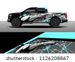 truck decal  cargo van and car... | Shutterstock .eps vector #1126208867