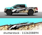 truck decal  cargo van and car... | Shutterstock .eps vector #1126208894