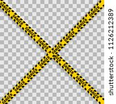yellow with black police line... | Shutterstock .eps vector #1126212389