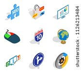 preview icons set. isometric... | Shutterstock . vector #1126213484