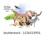 watercolor illustration of... | Shutterstock . vector #1126213931