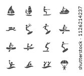 water sports icons   Shutterstock .eps vector #1126214237